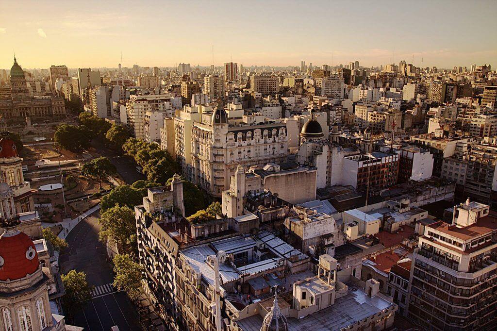 Vista aérea desde el Palacio Barolo